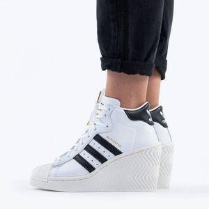 NWT adidas Originals Superstar Ellure Wedge Shoes